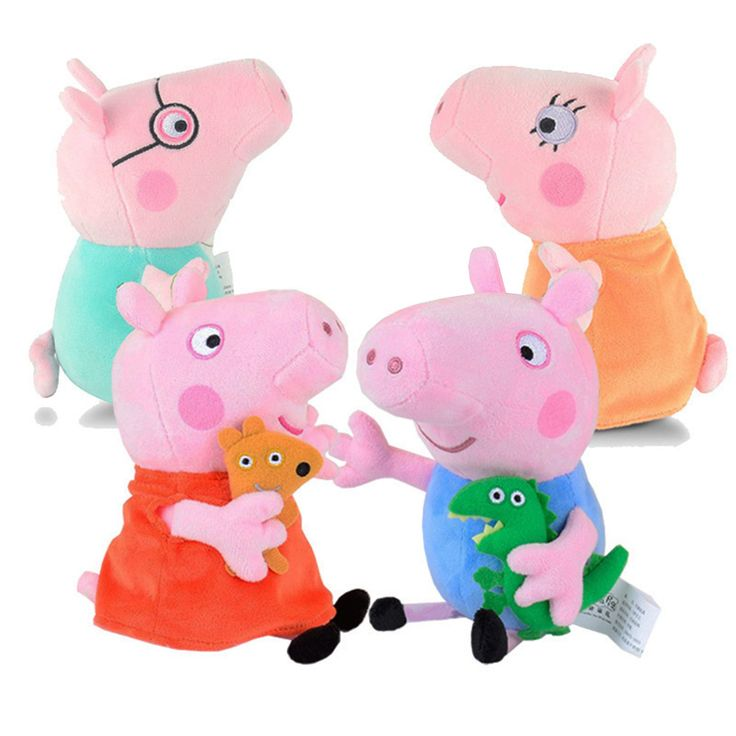Genuine Brand Peppa Pig Plush Toys 19cm/7.5'' Peppa George Pig Family Toys For Kids Girls Baby Birthday Party Animal Plush Toys