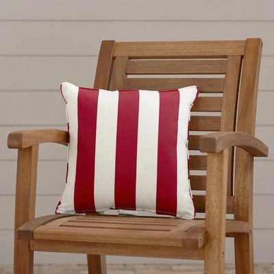 "Wayfair Custom Outdoor Cushions Outdoor Throw Pillow Color: Finnigan Cherry, Height: 20"", Width: 20"""