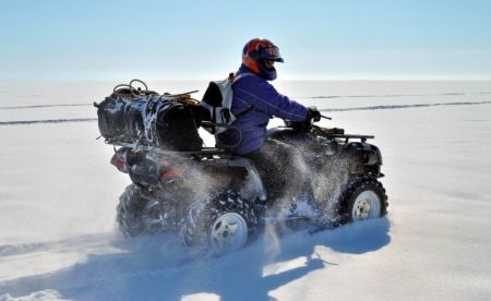 Quads can also be used in crossing iced Baikal