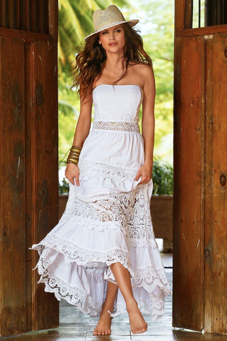 Bohemian Dress White | Hello Molly |Tahari White Dress Hippie Bohemian