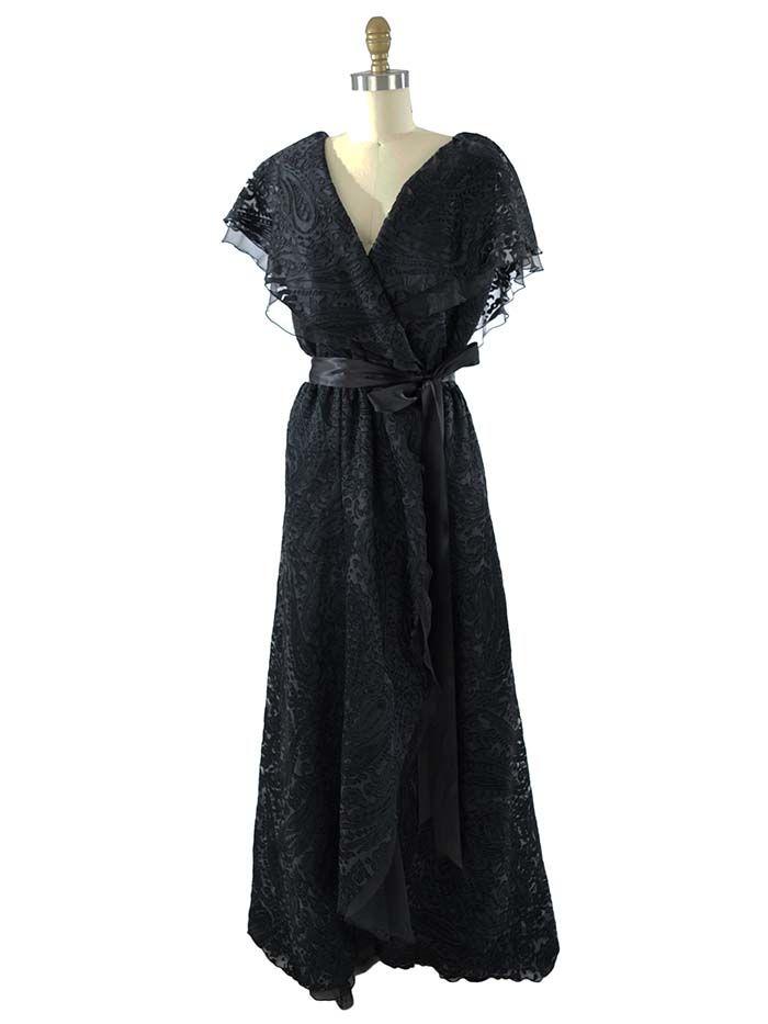 Black dress elegant 80s