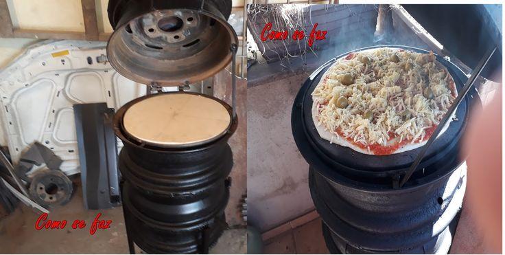 Eu sempre tenho visto algumas pessoas que fazem fogão de lenha com rodas de carro usadas, e pensei porque não fazer um forno de pizzas...