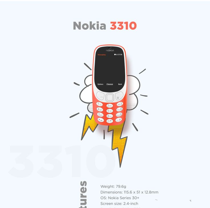 Nokia 3310 Landing page Concept on Behance