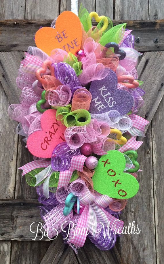 80 best Valentine Decor images on Pinterest | Valentine wreath ...