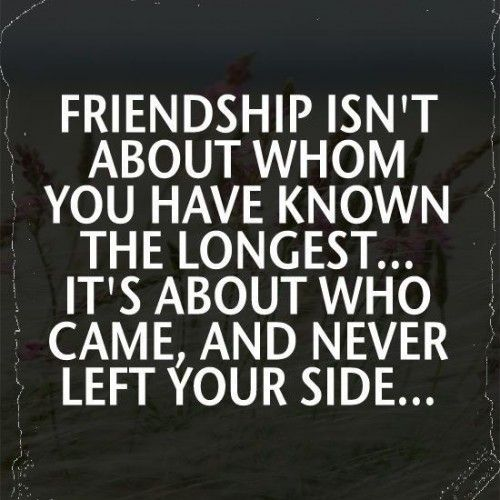 friendship is only a fair weather relationship