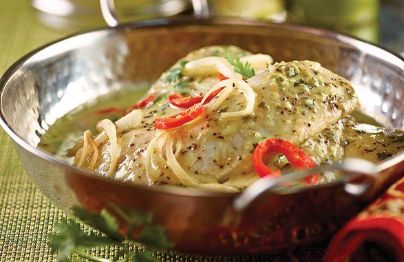 Baked Tilapia in Green Curry Sauce | Food & Drink | Pinterest | Sauces ...