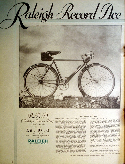 RALEIGH RECORD ACE CYCLE