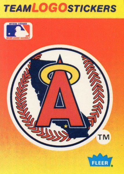 1991 fleer baseball card sticker angels
