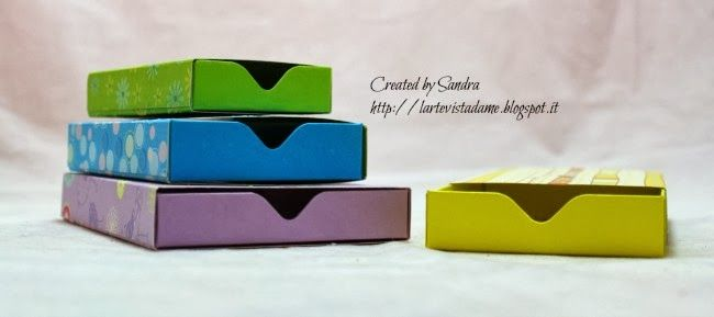 ...L'Arte vista da me...: Matchbox tutorial con Envelope punch board