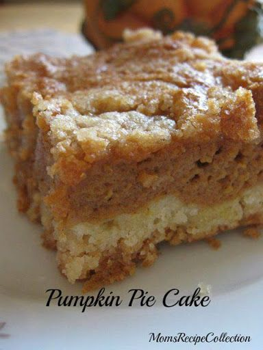 Pumpkin Pie Cake-made, easy to make, yummy but would be better with cool whip added