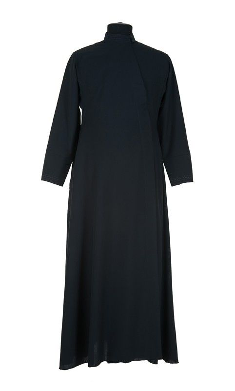 Russian Silk Undercassock, $140.00, Russian undercassock with embroidered collar, cuffs, and pockets. Made from lightweight pure black breathable fabric, which is perfect for warm season. You can additionally order plaited, handmade belts that have different widths, colors, and interweaving patterns via the Comment section of your order. Catalog of St. Elisabeth Convent. About workshop  http://catalog.obitel-minsk.com/sewing-workshop #russian #orthodox #priest #vestment #sewn #goods…