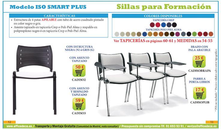 sillas para formación y salas de comunicación.