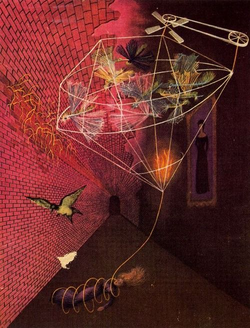 Angustia ('Anguish'), 1947 gouache by Remedios Varo