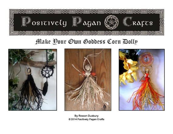 How to Make Your Own Pagan Corn Dolly Goddess PDF  E- Manual. Easy Step by Step Instructions & Pics! on Etsy, $9.42 CAD