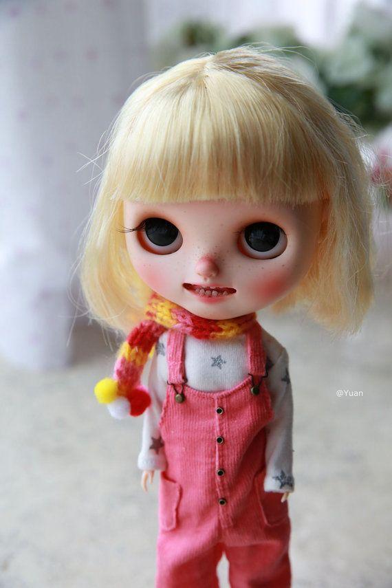 Sady Yuan's Blythe (šály, trička, kombinézy) / outfit / oblečení / ruční výroba / pletení / OOAK