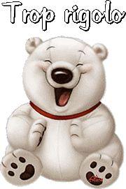 """""""Trop rigolo"""" - Petit ours blanc qui bat des pattes..."""