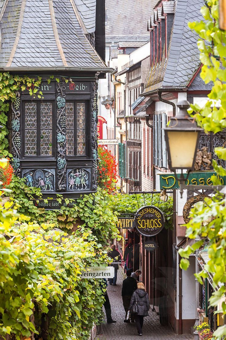 Another beautiful place to visit in Germany. Just look at the awesome architecture.  Definitely a vacation spot I have to travel to. Rudesheim am Rhein, Germany
