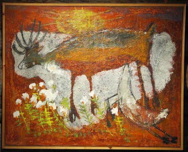 Love this!! Reidar Särestöniemi (1925-1981), Finnish Lapland artist ~