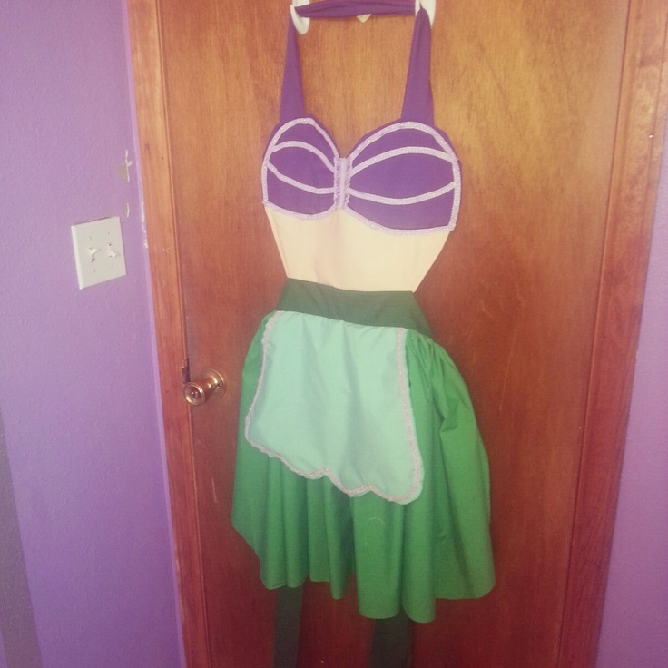 Disney's the Little Mermaid Ariel inspired apron. I need a little kid one!!!  For Arielle @Andrea ShaBazz