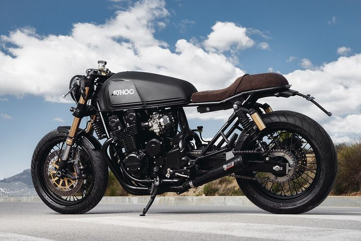 Back in Black - AdHoc Cafe Racers CB750 via returnofthecaferacers.com
