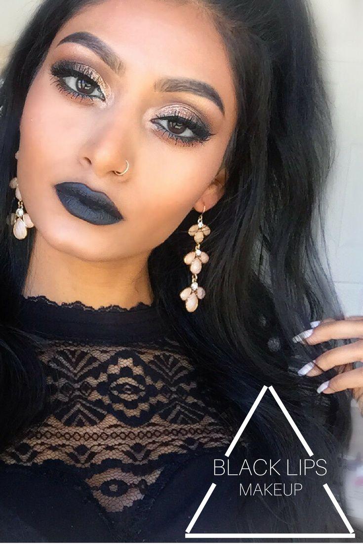 Pinterest lavishkrish Baddie makeup, Black lips