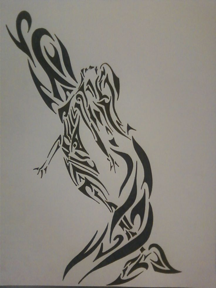 tribal mermaid (c) Sarah Dellinger | Tunes and Pencil ...