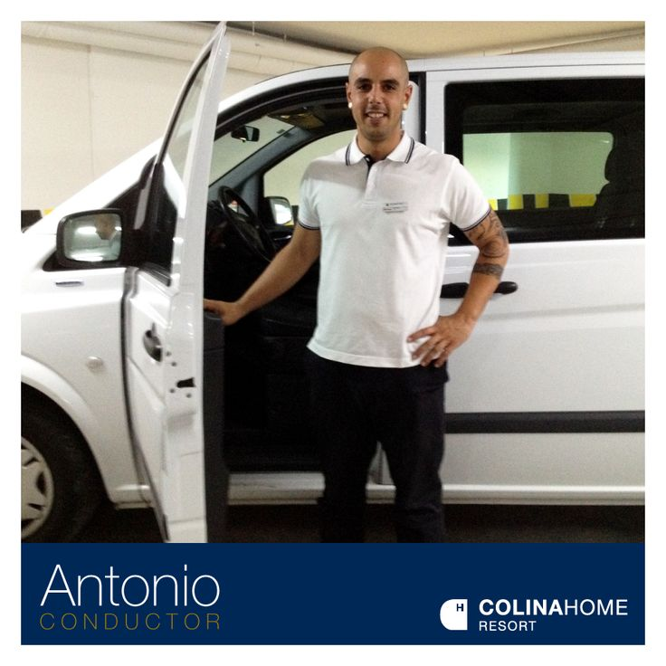 Comenzamos el día presentándote a nuestro simpático y profesional conductor Antonio.  #EquipoColina #ColinaHomeResort #Resort #AntonioConductor #ConductorColina