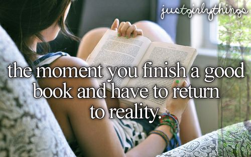 the moment you finish a good book and have to return to reality