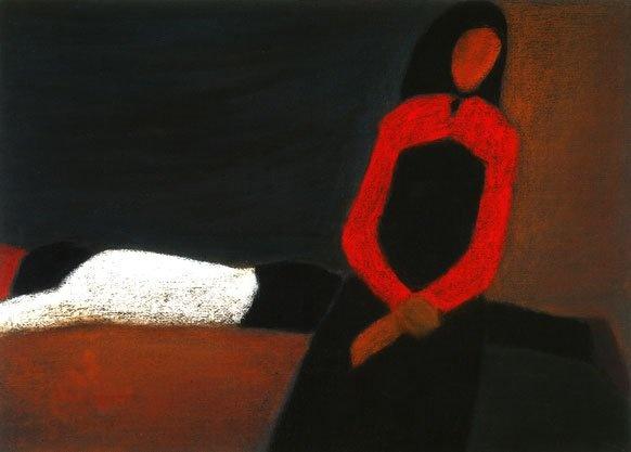 """Петр Дик.  Родился на Алтае в 1939 году. В 1973 году окончил  Московское высшее художественно-промышленное училище  (бывш. Строгановское).В 1991 году присвоено почетное звание  """"Заслуженный художник России""""."""