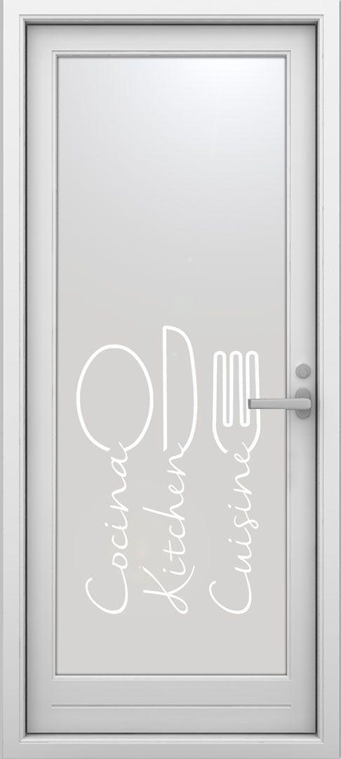 Mejores 29 im genes de vinilos para puertas de cocina en - Colocar vinilo en cristal ...