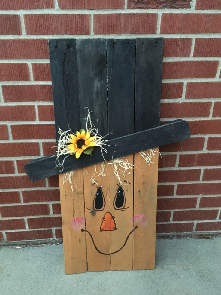 A personal favorite from my Etsy shop https://www.etsy.com/listing/472272986/reversable-scarecrow-snowman-pallet-wood