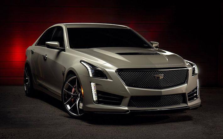Download imagens Cadillac XTS, trevas, 2017 carros, os carros americanos, Cadillac