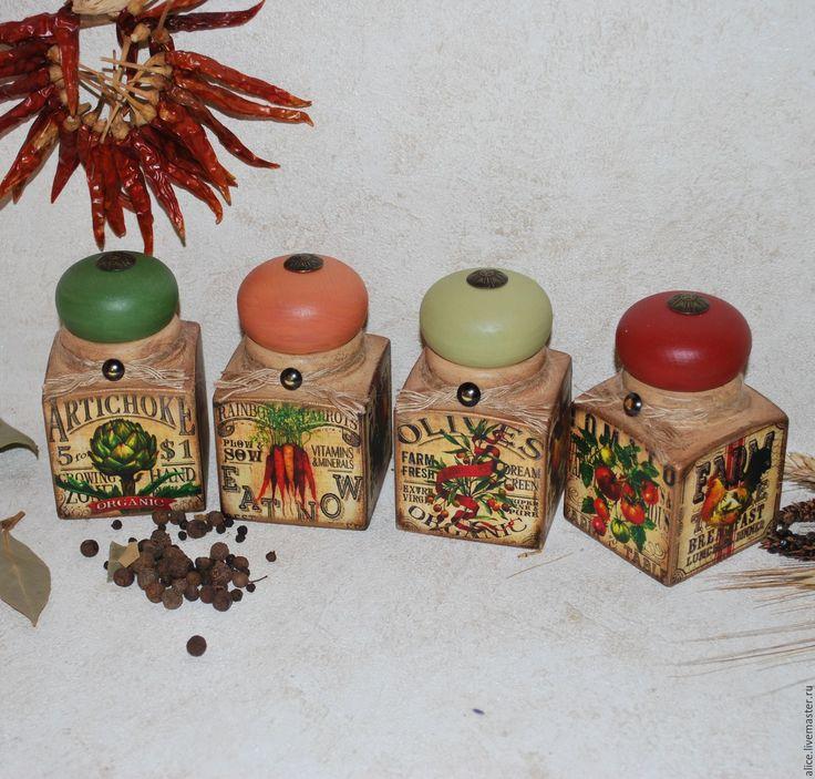 Купить баночки для специй - комбинированный, баночка, баночки для специй, баночка для чая, кухонный интерьер