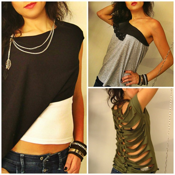 Pin it on on of your boards to win it! 10 Creative DIY Ideas for your Tshirt by maslinda on Etsy, $4.99 #giveaway