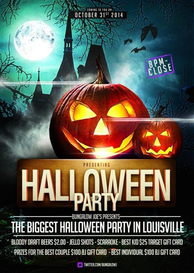 Download The Free Halloween Night Flyer Template Halloween Party Flyer Halloween Flyer Free Flyer Templates