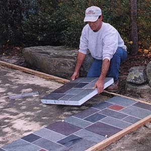 Amazing Build A Slate Patio