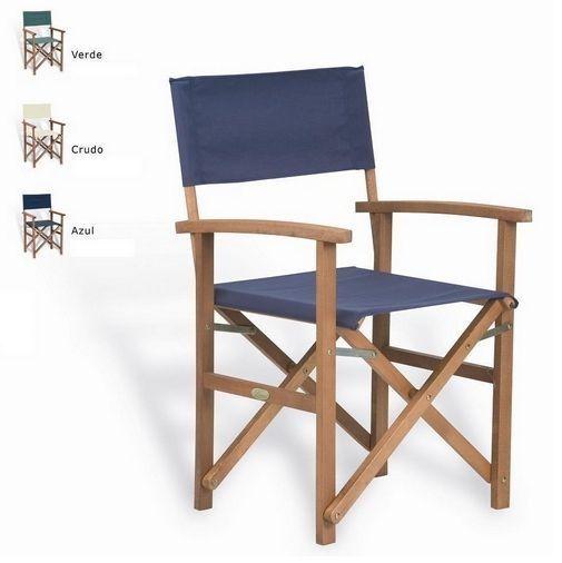 silla tipo director, madera y lona