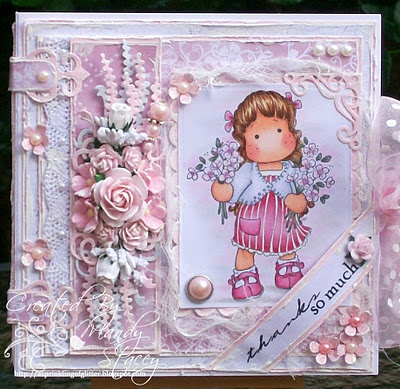 Tilda with Winter flowers, Sweet Christmas Dreams 2011, Magnolia stamps