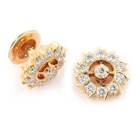 Gold Earrings Stud Diamond