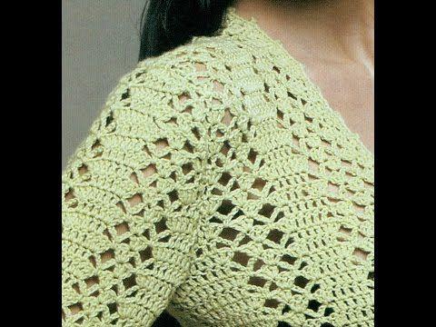 Ligero suéter calado abierto a crochet - YouTube