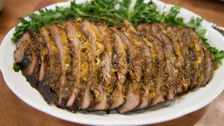 """Passover begins next Monday evening, and """"Top Chef"""" judge Gail Simmons is in the TODAY kitchen with Kathie Lee Gifford and Ken Jeong to demonstrate her recipe for a classic Seder dish everybody loves: Horseradish brisket."""