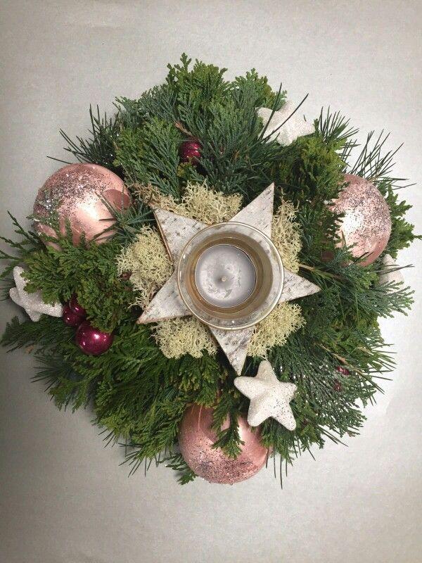 Kerst stukje roze