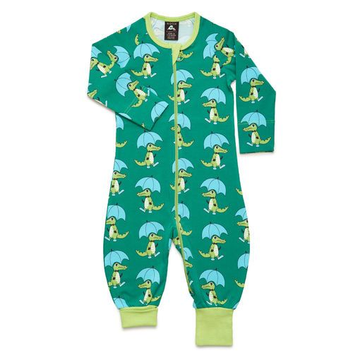 NOSH All-in-one Croco, Green. Certified organic cotton