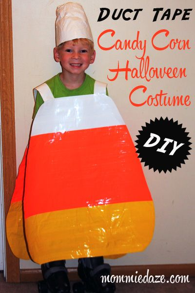 Halloween Costume Ideas: DIY Duct Tape Candy Corn - Mommiedaze
