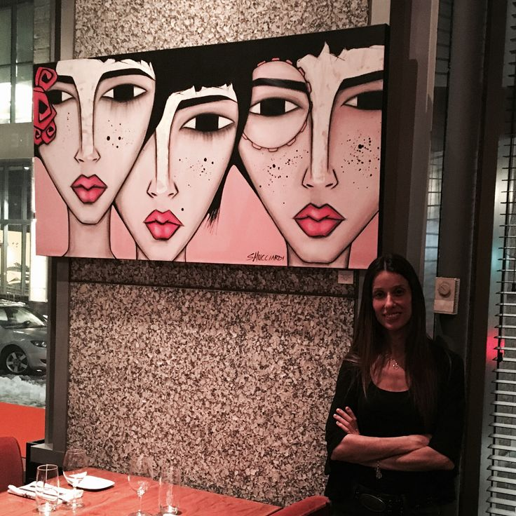"""98 Likes, 12 Comments - Art by Sandra Mucciardi (@sandra_mucciardi) on Instagram: """"My paintings are now up at Restaurant DECCA 77 located at 1077 Drummond Street. Literally a 10…"""""""