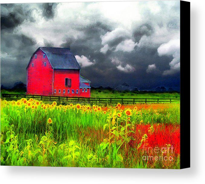The Red Barn Canvas Print Canvas Art By Gina Signore Barn Art Red Barn Painting Barn Painting