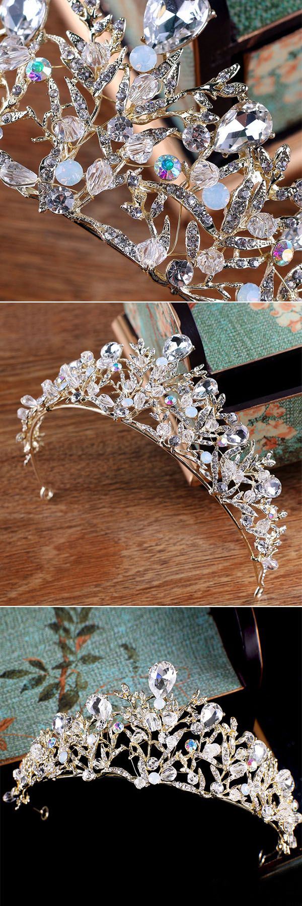 sparkly silver bridal crown wedding headpieces accessary