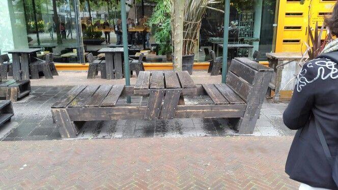 Houten picknick bank tafel, Rotterdam