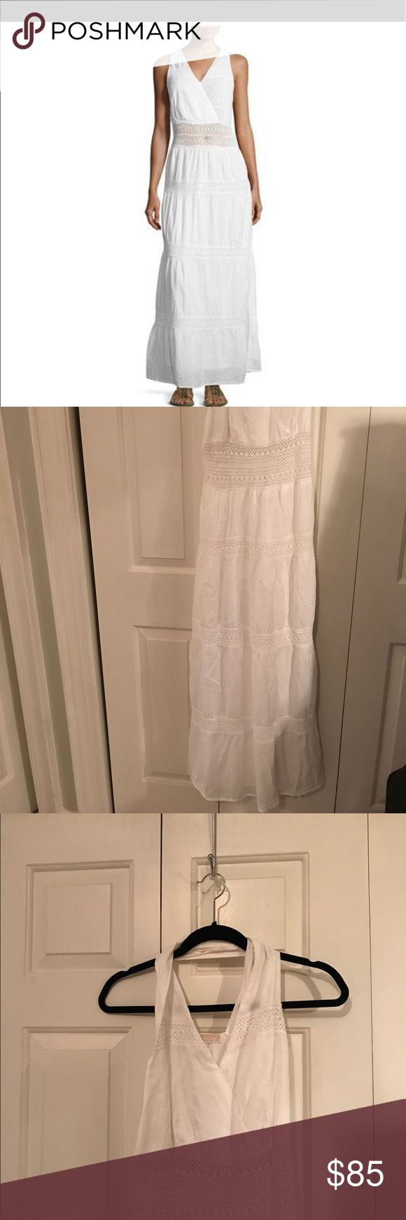 Michael.  Michael Kors white maxi dress. Not worn Flowing white maxi sundress with a slightly see through crochet mid section. MICHAEL Michael Kors Dresses Maxi