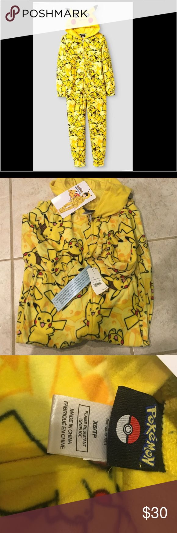 Sold out NWT Pokemon pikachu pajamas size xs 4/5 Bought these for my son- they didn't fit and I forgot to return them! These are NWT, tried on for a second and taken directly off. Sold out completely at Target in all sizes- perfect Christmas gift for your Pokemon lover! Pokemon Pajamas